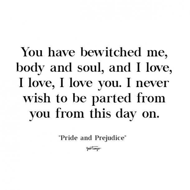 pride and prejudice cute love quote