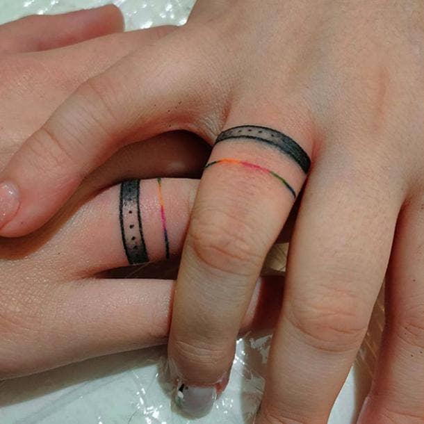 pride wedding ring tattoo