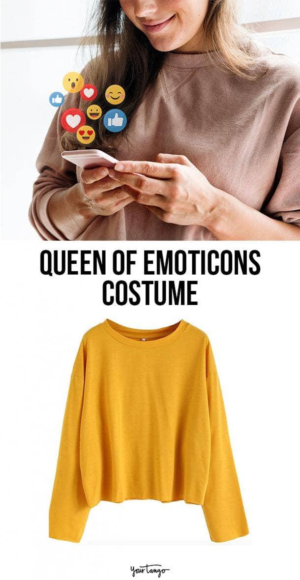 queen of emoticons last minute halloween costumes