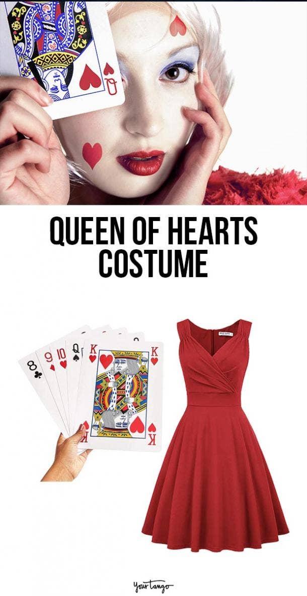 queen of hearts last minute halloween costumes