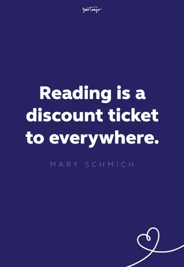 reading is a discount ticket to everywhere