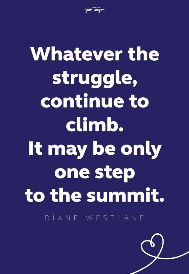 diane westlake quote about struggle