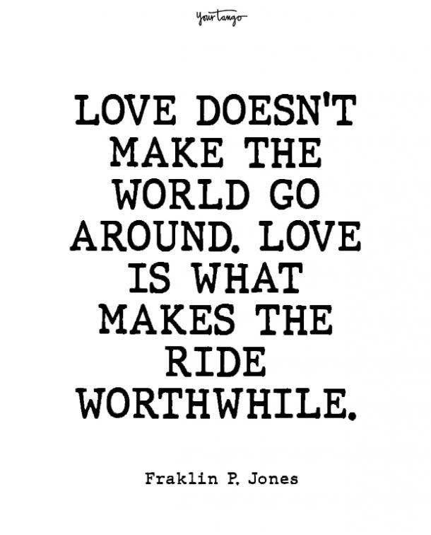 franklin p jones beginning love quotes