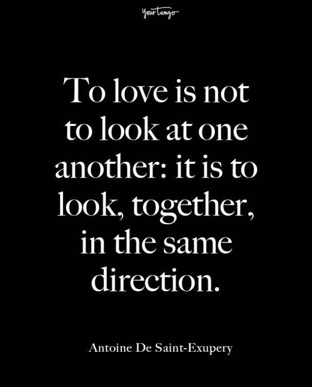 antoine de saint exupery beginning love quotes