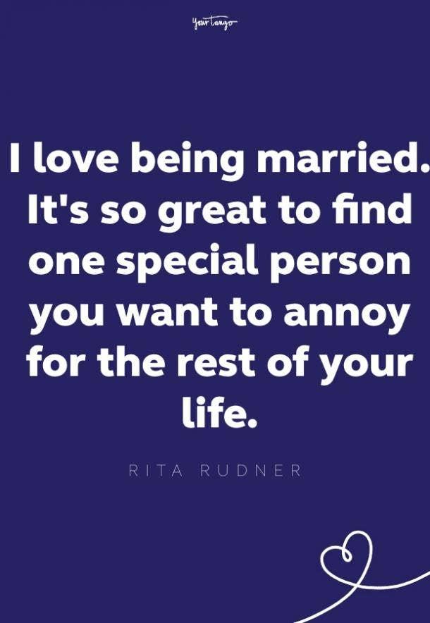 rita rudner quote for bride