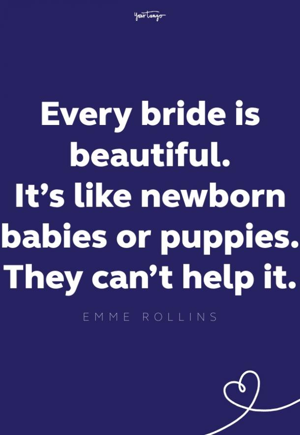 emme rollins quote for brides