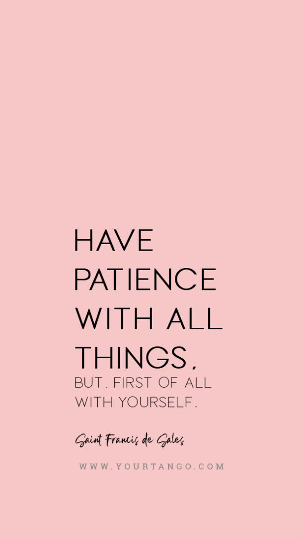 Saint Francis de Sales patience quote