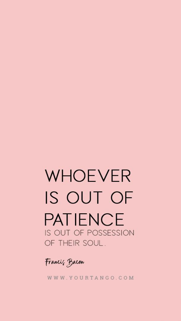 Sir Francis Bacon patience quote