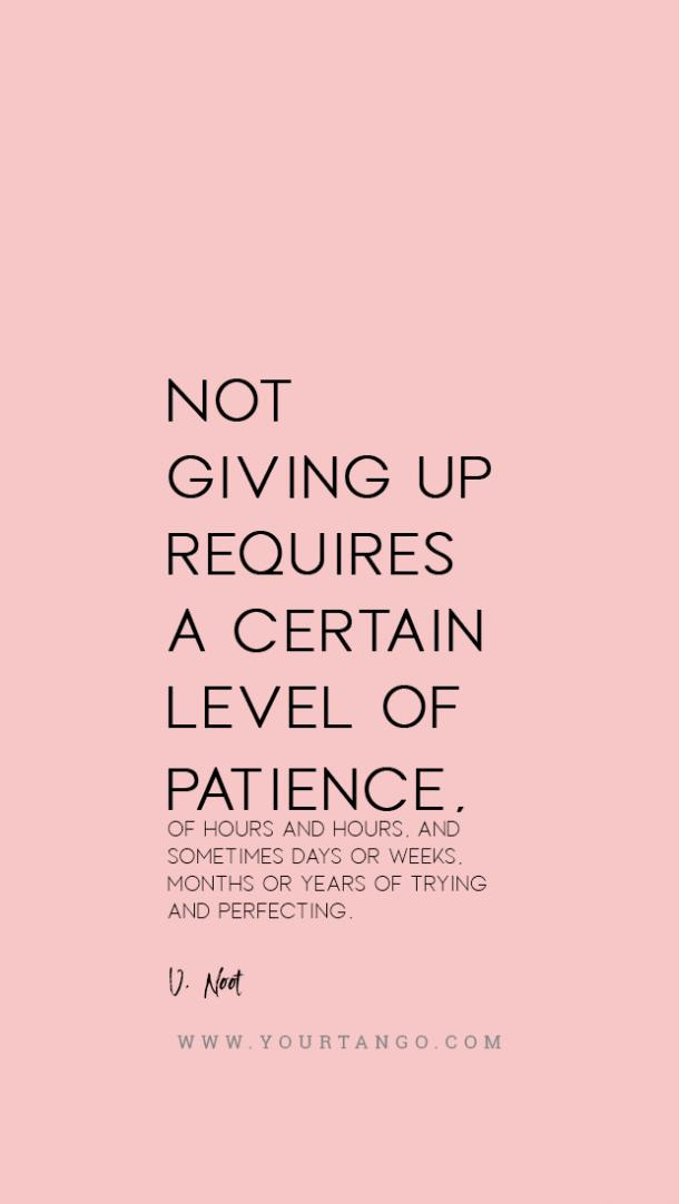 V Noot patience quote