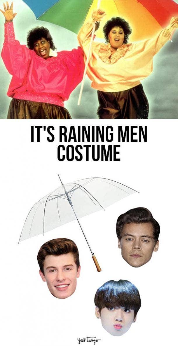 it's raining men last minute halloween costumes