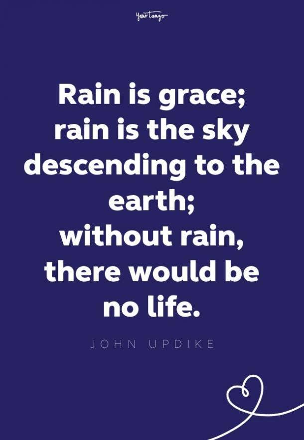 john updike rainy day quote