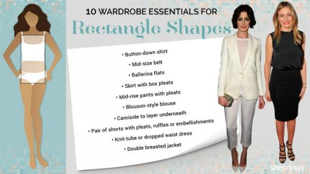 rectangle shape body type