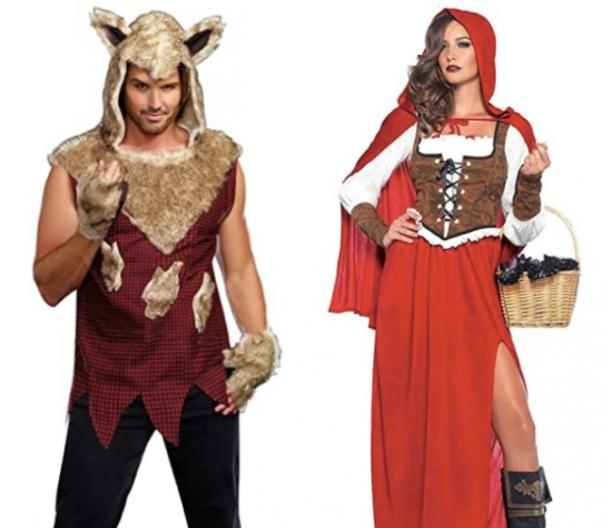 red riding hood and big bad wolf couples costume
