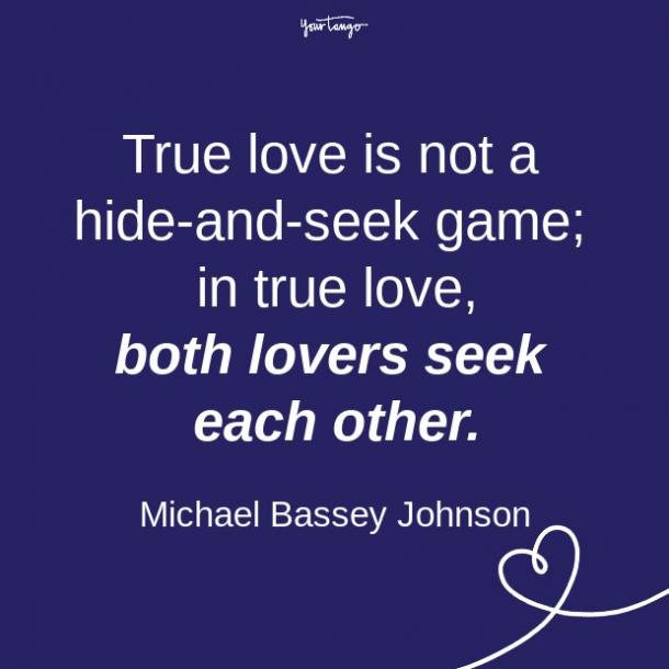 Michael Bassey Johnson relationship quote