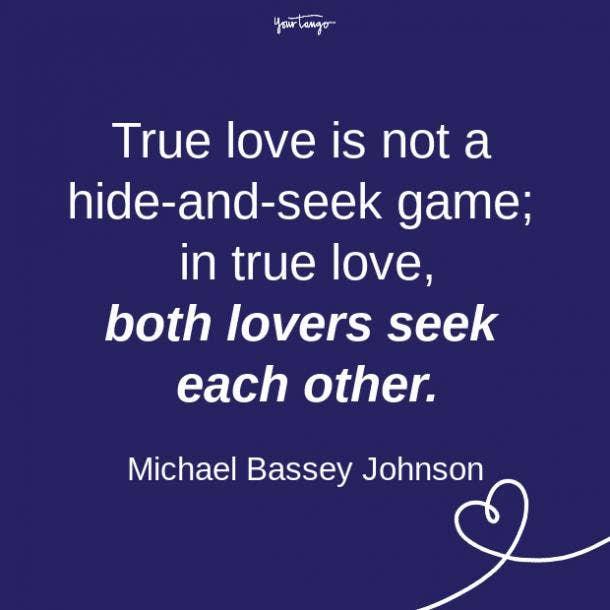 Michael Bassey Johnson relationship quote