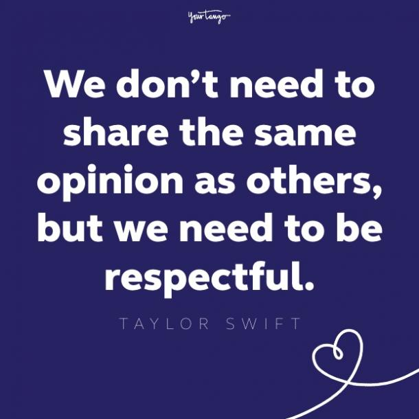 taylor swift respect quote