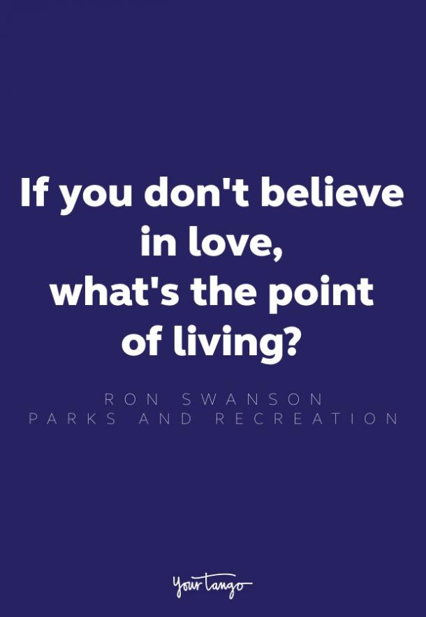 ron swanson love quote parks and rec