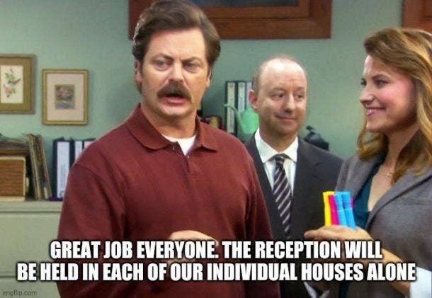 ron swanson reception quote