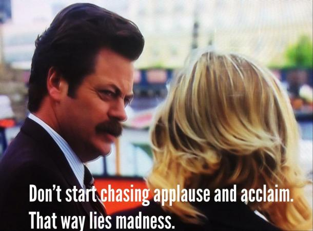 ron swanson applause quote