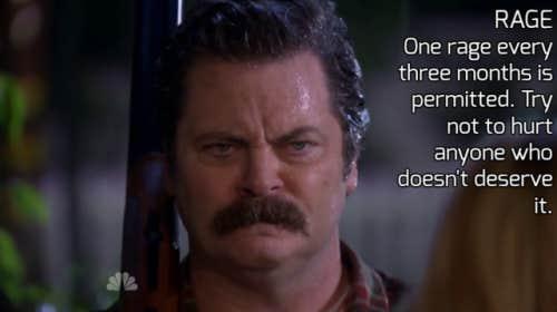 ron swanson rage quote