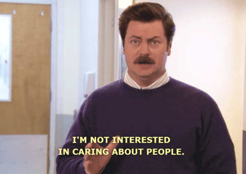 ron swanson caring quote