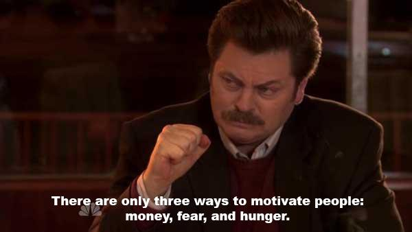 ron swanson motivate quote