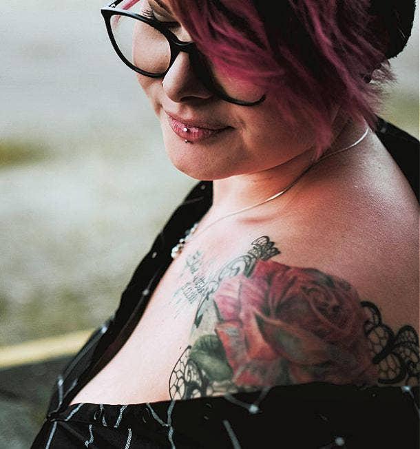 rose tattoo idea for women
