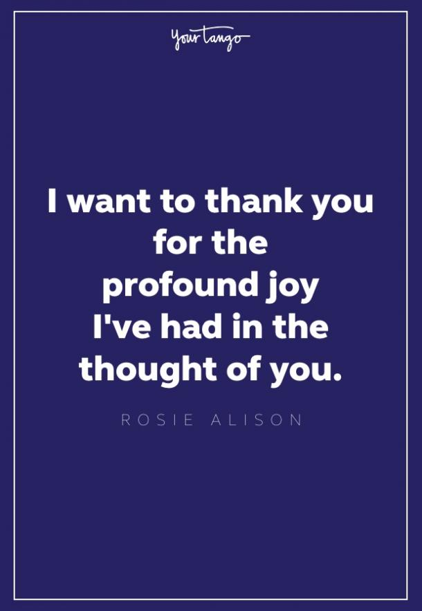 Rosie Alison thank you quote