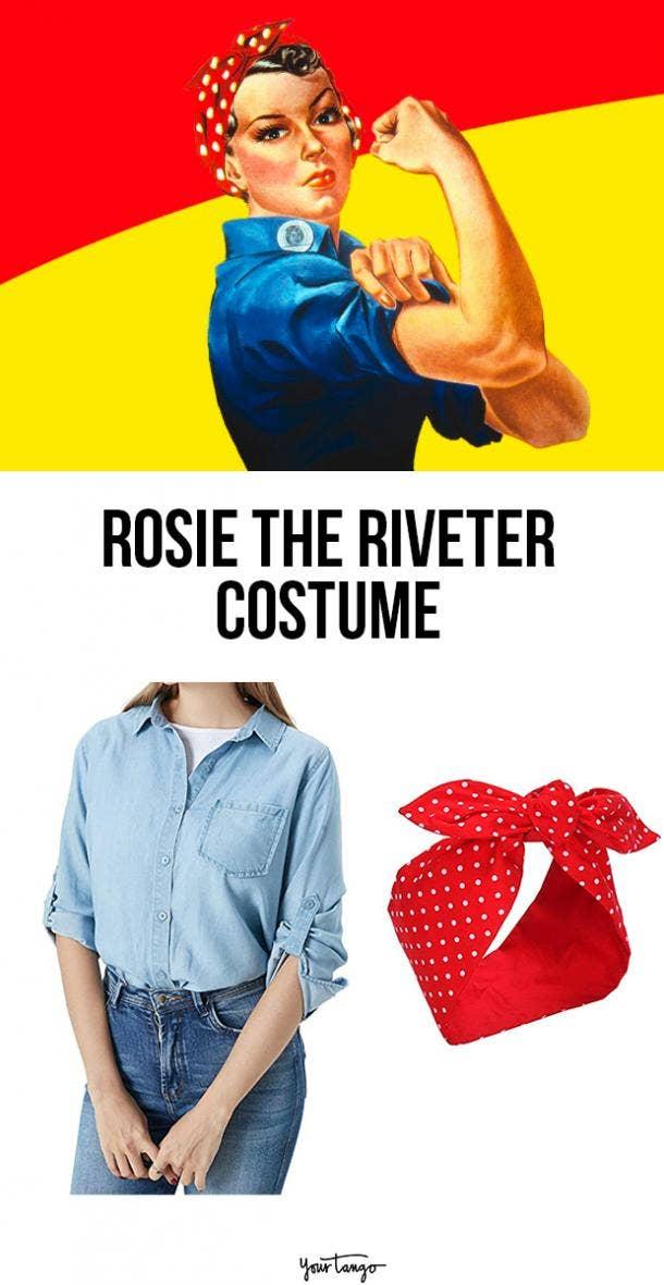 rosie the riveter last minute halloween costumes