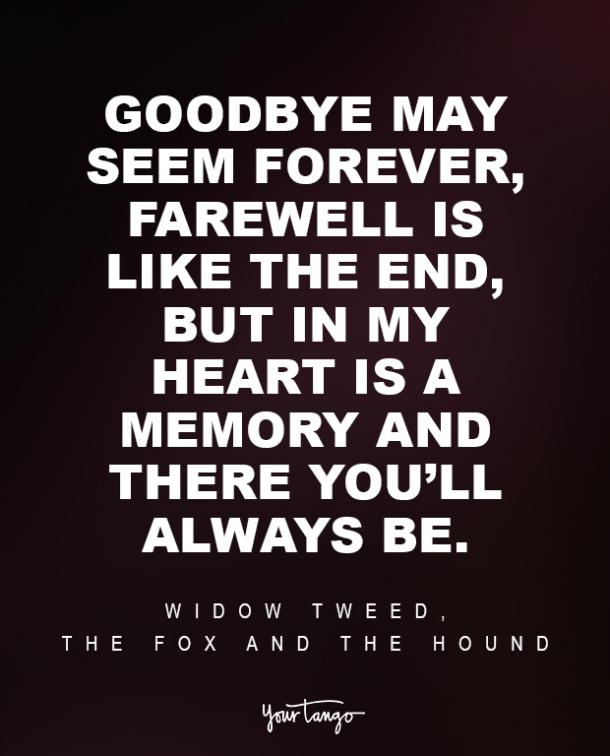 Widow Tweed, The Fox And The Hound Sad Disney Quote