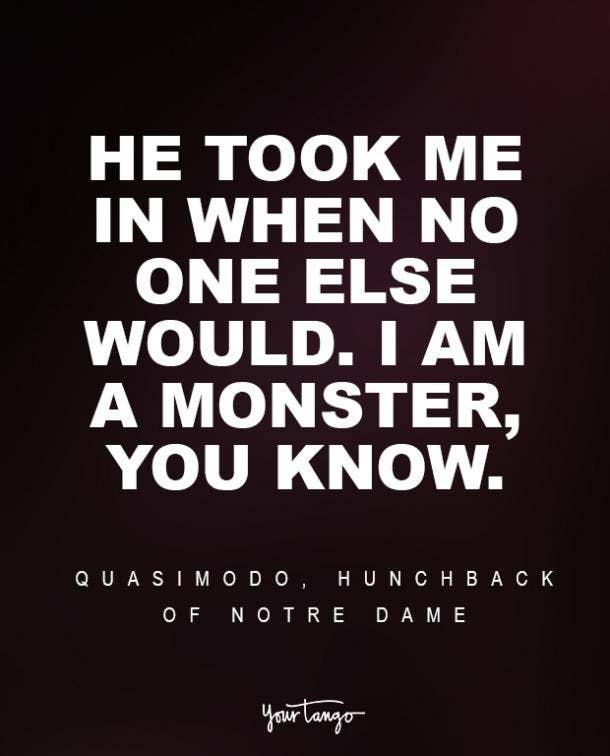 Quasimodo, The Hunchback of Notre Dame Sad Disney Quote