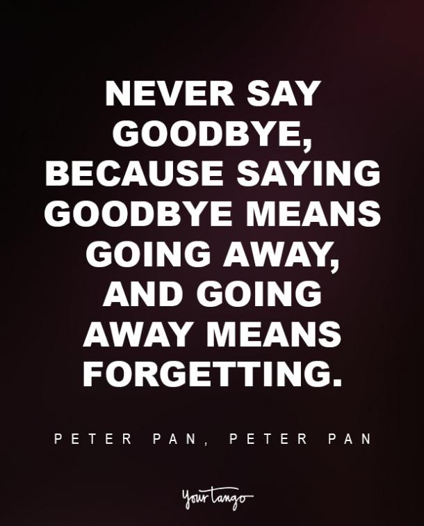 Peter Pan Sad Disney Quote