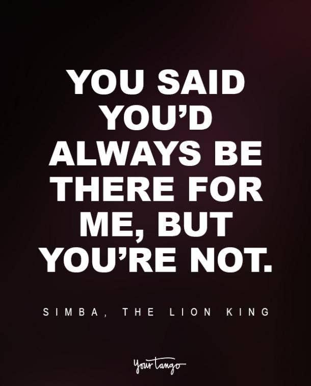 Simba, The Lion King Sad Disney Quote