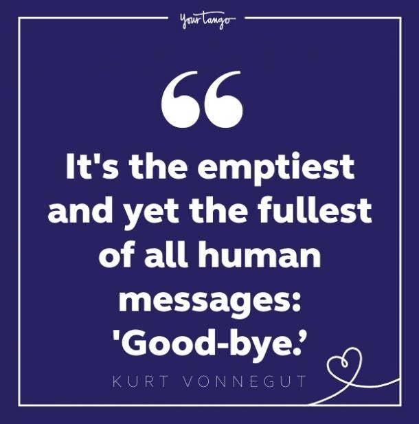 kurt vonnegut sad goodbye quote