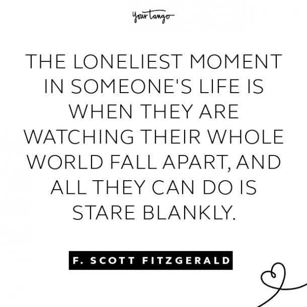 f. scott fitzgerald sad quote