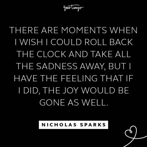 nicholas sparks sad quotes