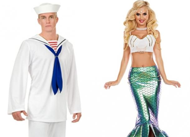 sailor and mermaid couples costume