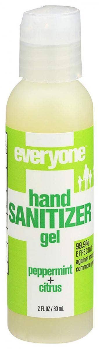 Everyone Peppermint Citrus Hand Sanitizer Gel hand sanitizer for sensitive skin