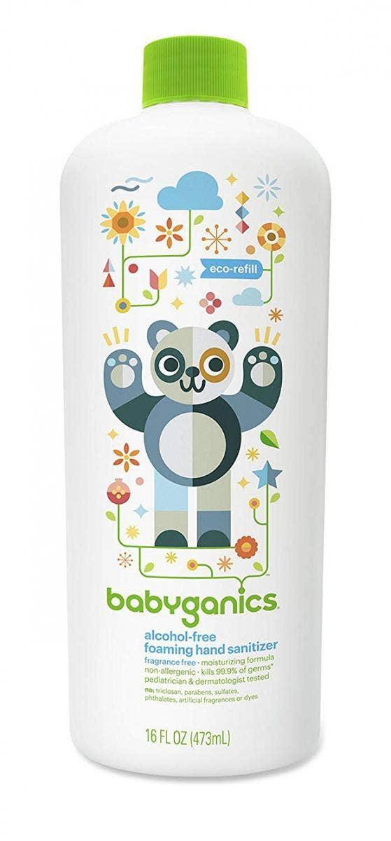 Babyganics Alcohol-Free Foaming Hand Sanitizer hand sanitizer for sensitive skin