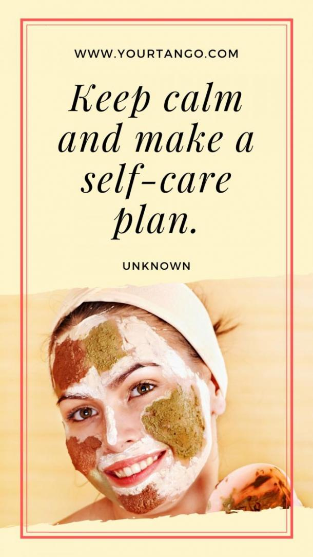 self care quotes diy spa day at home