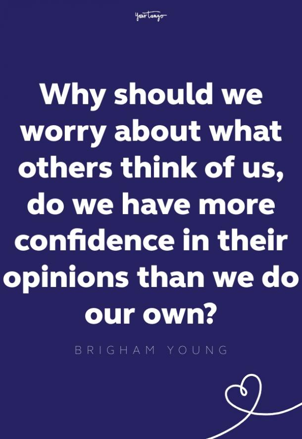 brigham young self esteem quote