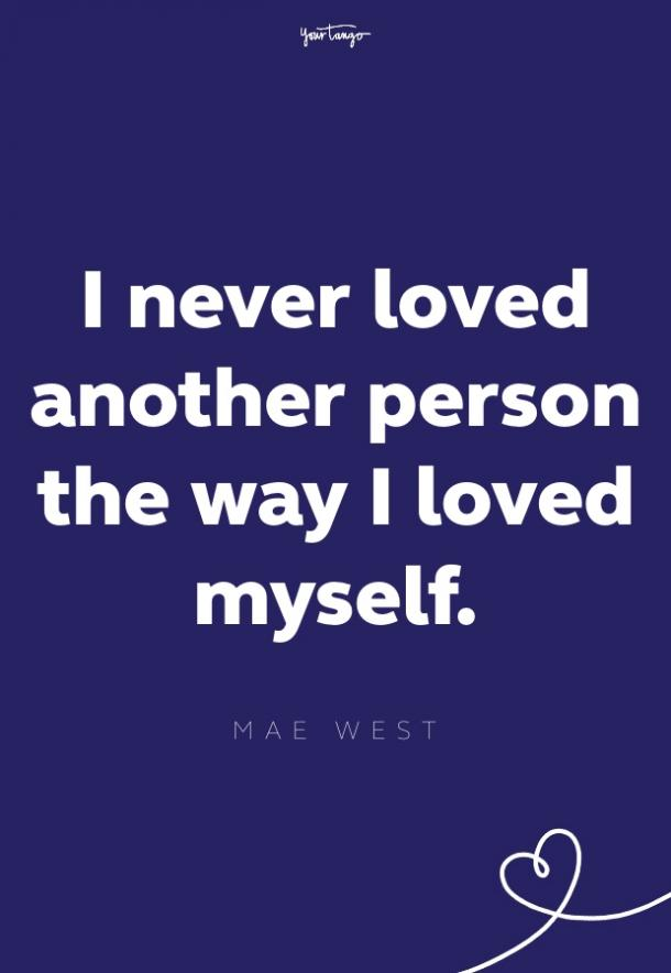 mae west self esteem quote