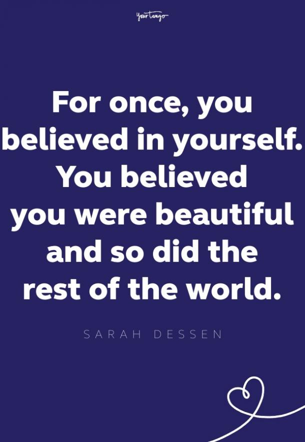 sarah dessen self esteem quote