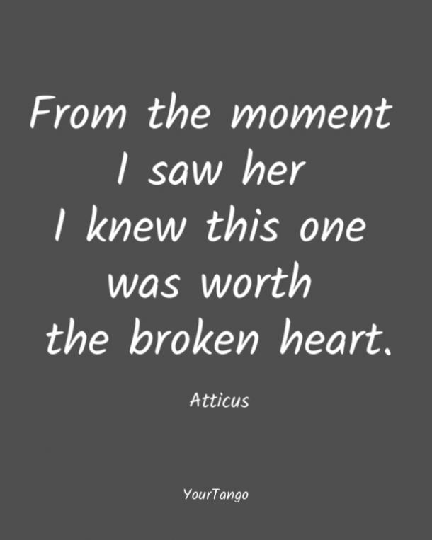 Atticus short love quote