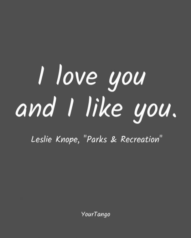 Parks & Recreation short love quote