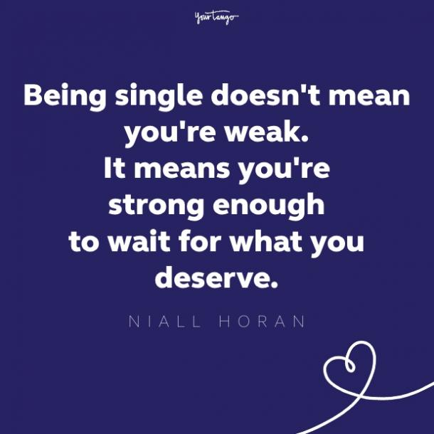 niall horan quote about being single