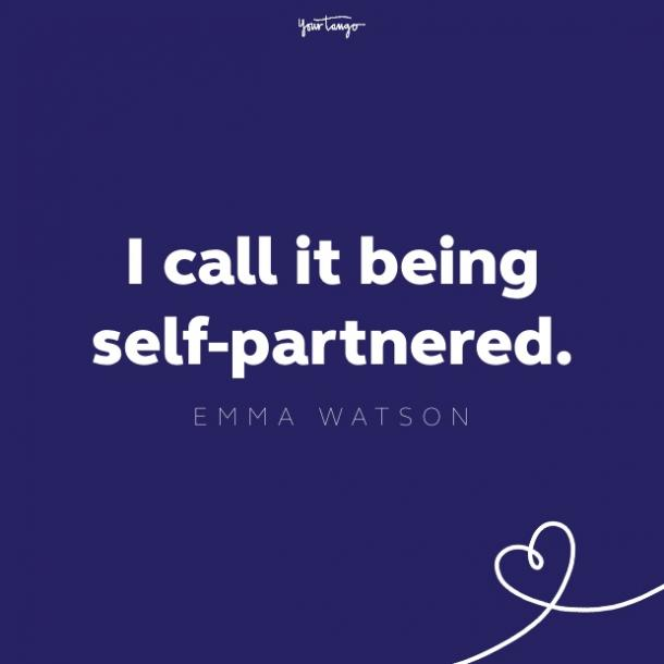 emma watson self partnered quote