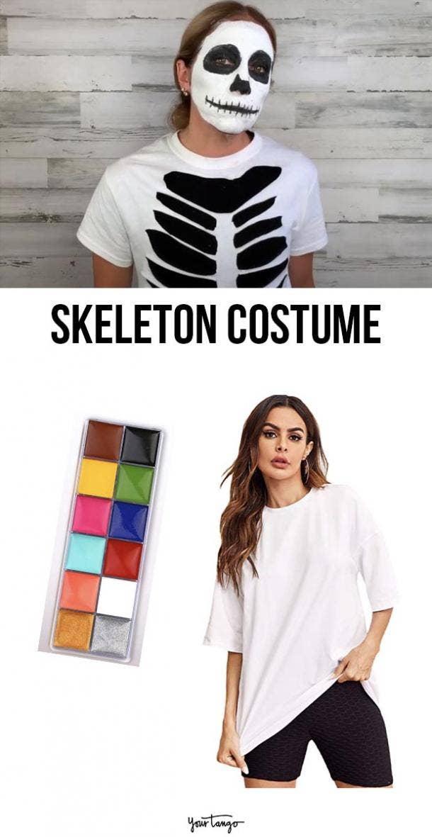 skeleton last minute halloween costumes