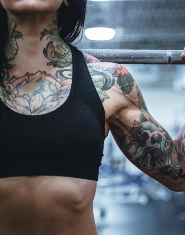 skull tattoo idea for women