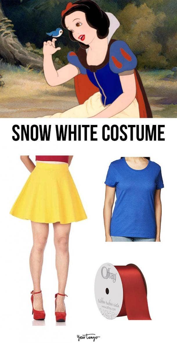 snow white last minute halloween costumes
